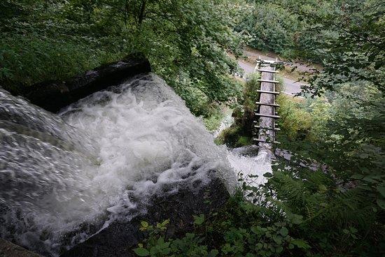 Trusetal, Alemanha: Wasserfall von Oben