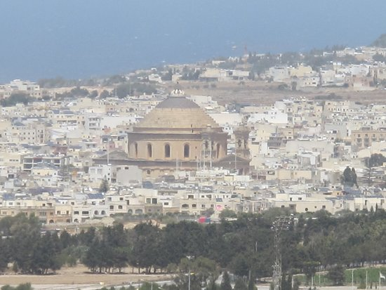 View of Mosta dome from Mdina