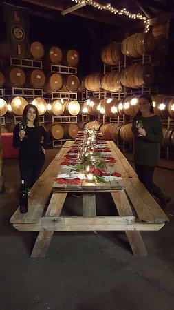 Camino, Kaliforniya: Love it when they offer private barrel room dinners!