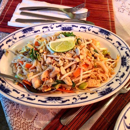Sandy, UT: pad thai noodles with shrimp, beef and chicken.