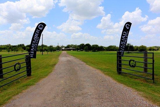 Goliad, TX: Entrance gate