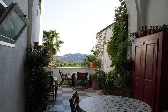 Arcola, Italy: terrazza colazione