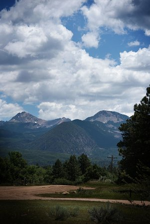 The La Plata Mountains from the edge of the main campground, Mancos State Park