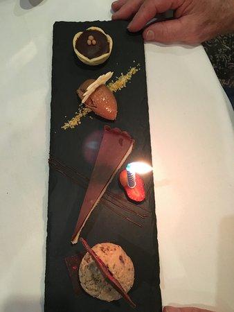 Lenzerheide Restaurant: Dessert to celebrate the birthday