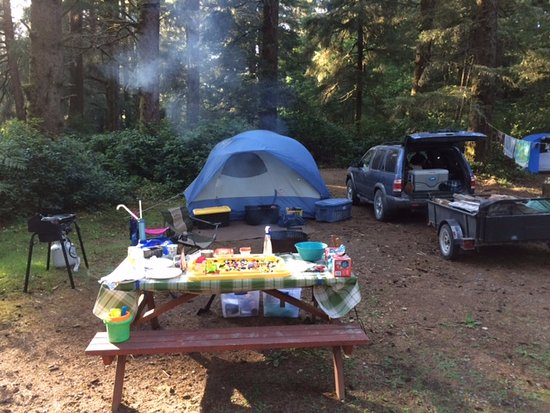 Pachena Bay Campground: Site T18. Across road from beachside. 1 min walk to beach.