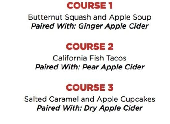 Сюррей, Канада: Edith + Arthur's Lonetree Cider Pairing Dinner, September 22nd 2016