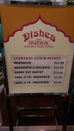 Dishes of India - Display board