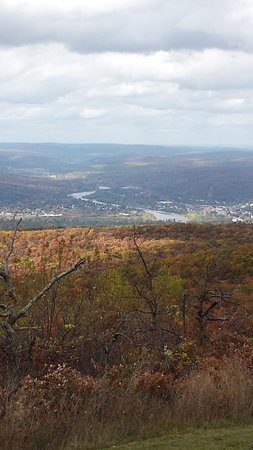 Sussex, NJ: View from the top of the hill where the monument is located showing the Delaware River.