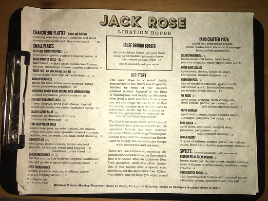 Los Gatos, CA: The Food Menu