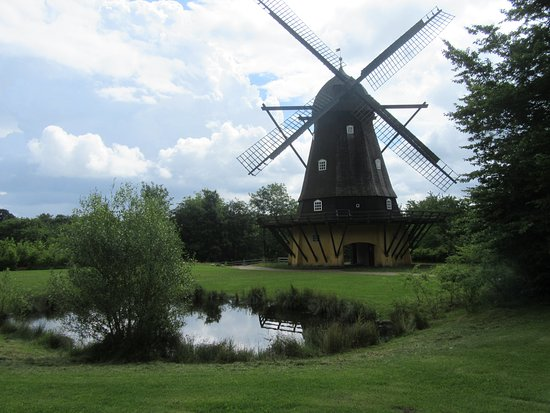 The Open Air Museum: Windmill on its original site
