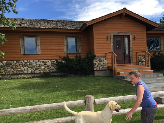 Victor, ID: The main house, super friendly dogs