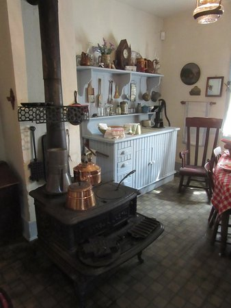 Oconto, WI: Beyer home's winter kitchen at the back of the house.