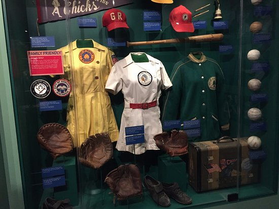 Cooperstown, estado de Nueva York: All-American Girls Professional Baseball League display