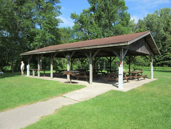 Oconto, WI: Group camping pavilion with power pedestals for 4-5 campers. Think family reunions.