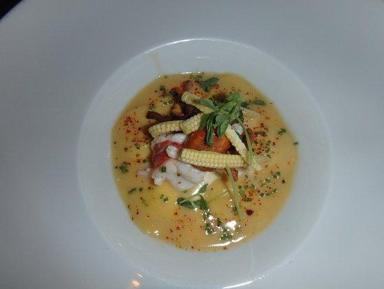 Michael Mina at Bellagio: lobster ravioli. so good!!