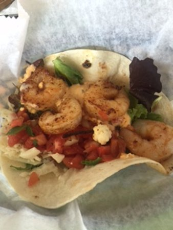Ocean View, DE: Grilled shrimp taco for about $6 bucks. Winner!