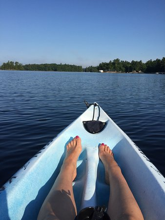 South Casco, ME: early morning kayak on the quiet lake