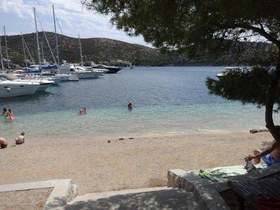 Lastovo Island, Κροατία: View from the beach bar