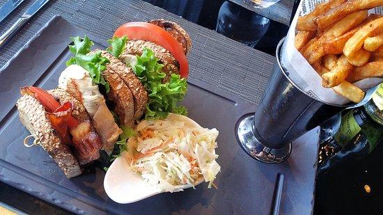 Chicken Club Sandwich Picture Of Bistro Le Sam Quebec City