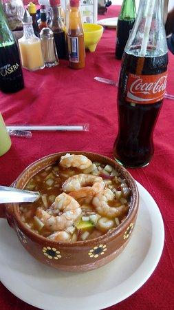 La Cruz de Huanacaxtle, Meksiko: Coctel de camarones