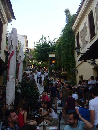 Hermes Hotel: This street in Plaka is fantastic for restaurants and is a must to visit.