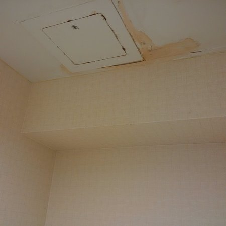 Holiday Inn Express Hotel & Suites Waterloo - St Jacobs: Water damage on ceiling