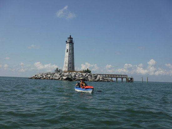 Port Haywood, Virginie : Kayaking New Point Comfort Lighthouse