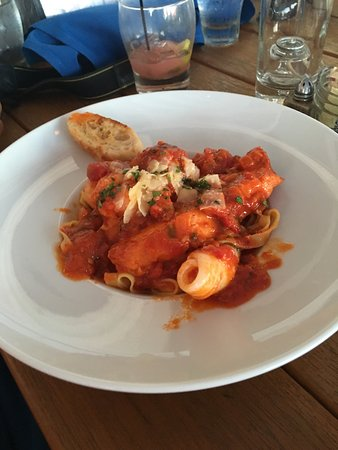 Stonington, CT: Delicious seafood pasta!  Absolutely perfect.