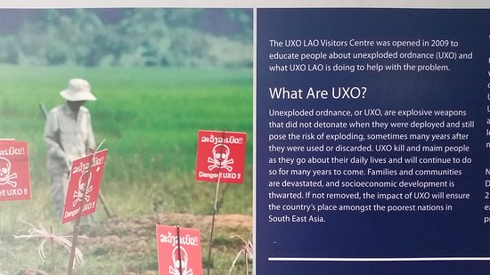 UXO Laos Visitor Center: Easy to understand background
