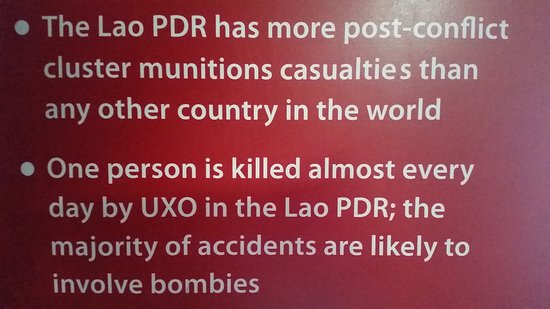UXO Laos Visitor Center: One person is killed almost every day
