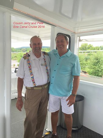 Herkimer, NY: Captain Jerry and I, After A Great Trip On The Canal