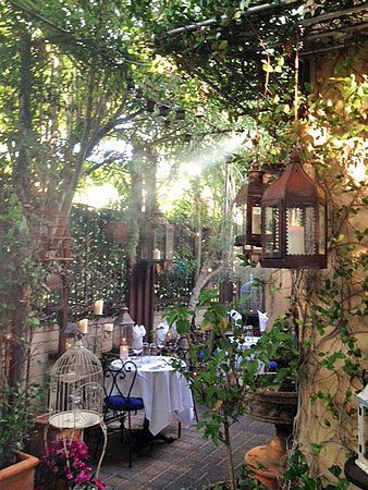 Cafe Monarch: Candles And Twinkle Lights Made The Outdoor Dining Enchanting.