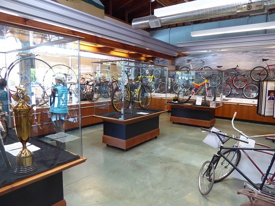 Fairfax, CA: Antique bikes on the left, mountain bikes on the right