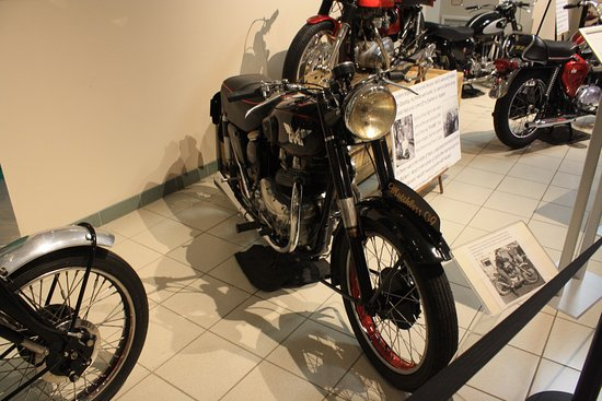 Antique Automobile Club of America Museum : Many motocycles such this road by Marlin Brando in his movies.