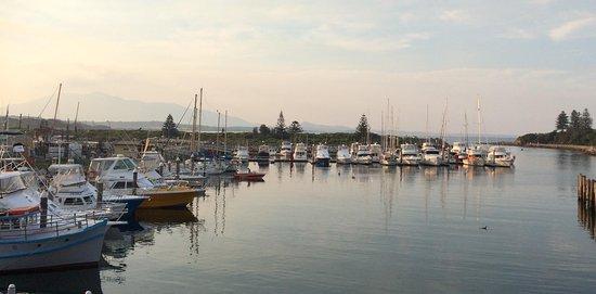 Bermagui Harbour Marina - view from Bermagui Fishermen's Wharf