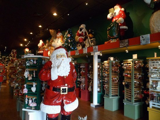 Santa Claus Christmas Store: This is the entrance to the store.