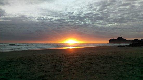 Sunset from Bethells beach