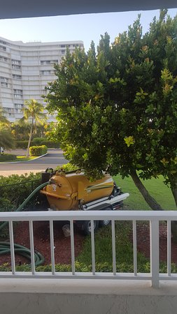 South Seas Towers Condominiums: Septic tank that ran on gas directly outside of the family room and bedrooms