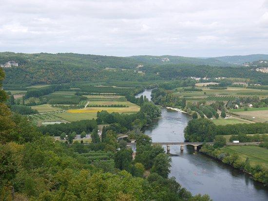 Domme, Fransa: uitzicht van de top
