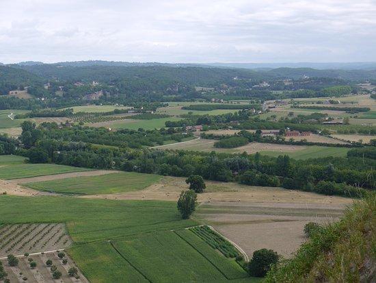 Domme, Frankreich: Uitzicht van de top