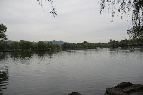 Chengde, China: One of the many lakes within the resort.