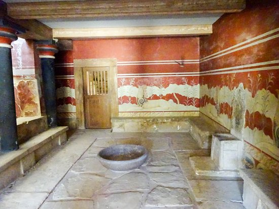 """Knossos Archaeological Site: The """"Throne Room"""""""