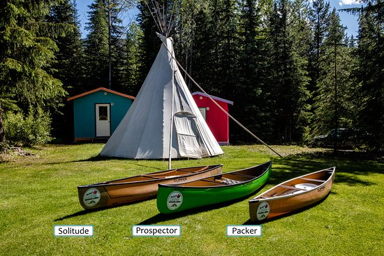 Wells, Canada: Solo canoes