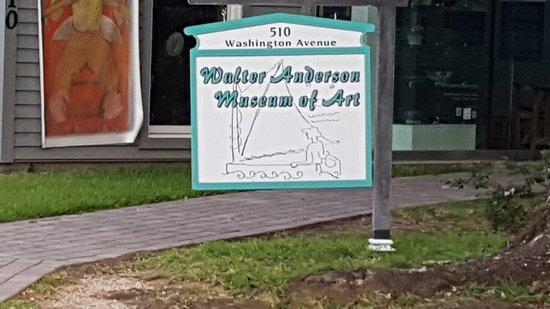 Ocean Springs, MS: Museum Sign