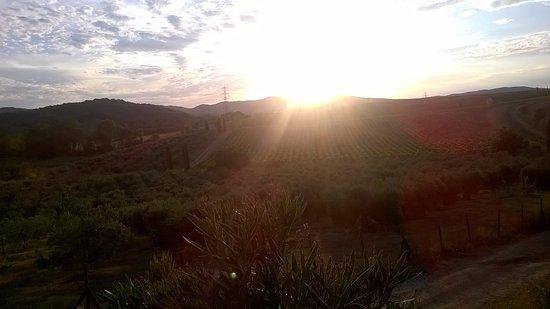 Roccastrada, Italia: al tramonto !