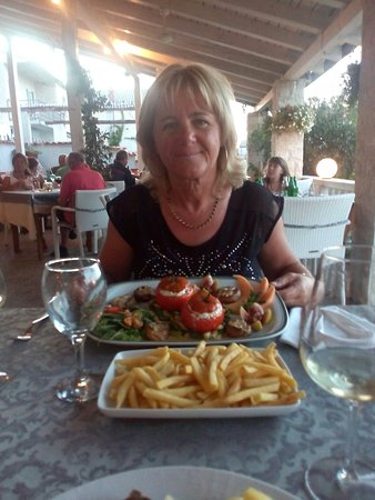 Betina, Croacia: Vegetarisch is het ook top en verse vis