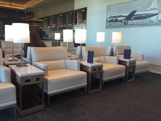 Dulles, VA: New first class lounge is great.  Fantastic staff and bring you breakfast