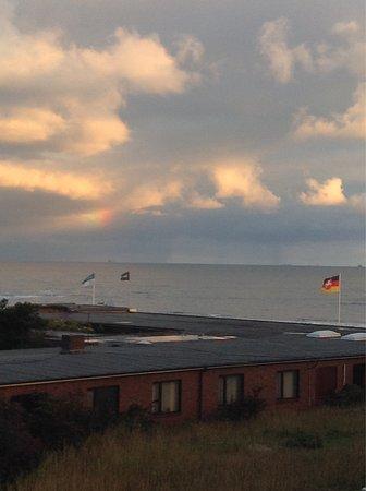 Wangerooge, Tyskland: Ein schöner Ausblick auf die Nordsee.