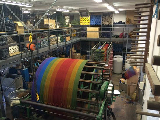 Studio Donegal: Another part of the factory to visit and see the wools being stored.