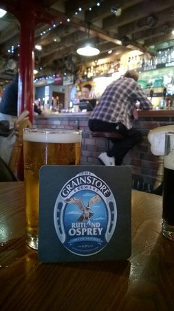 Oakham, UK: Rutland Osprey - one of the many beers brewed on site